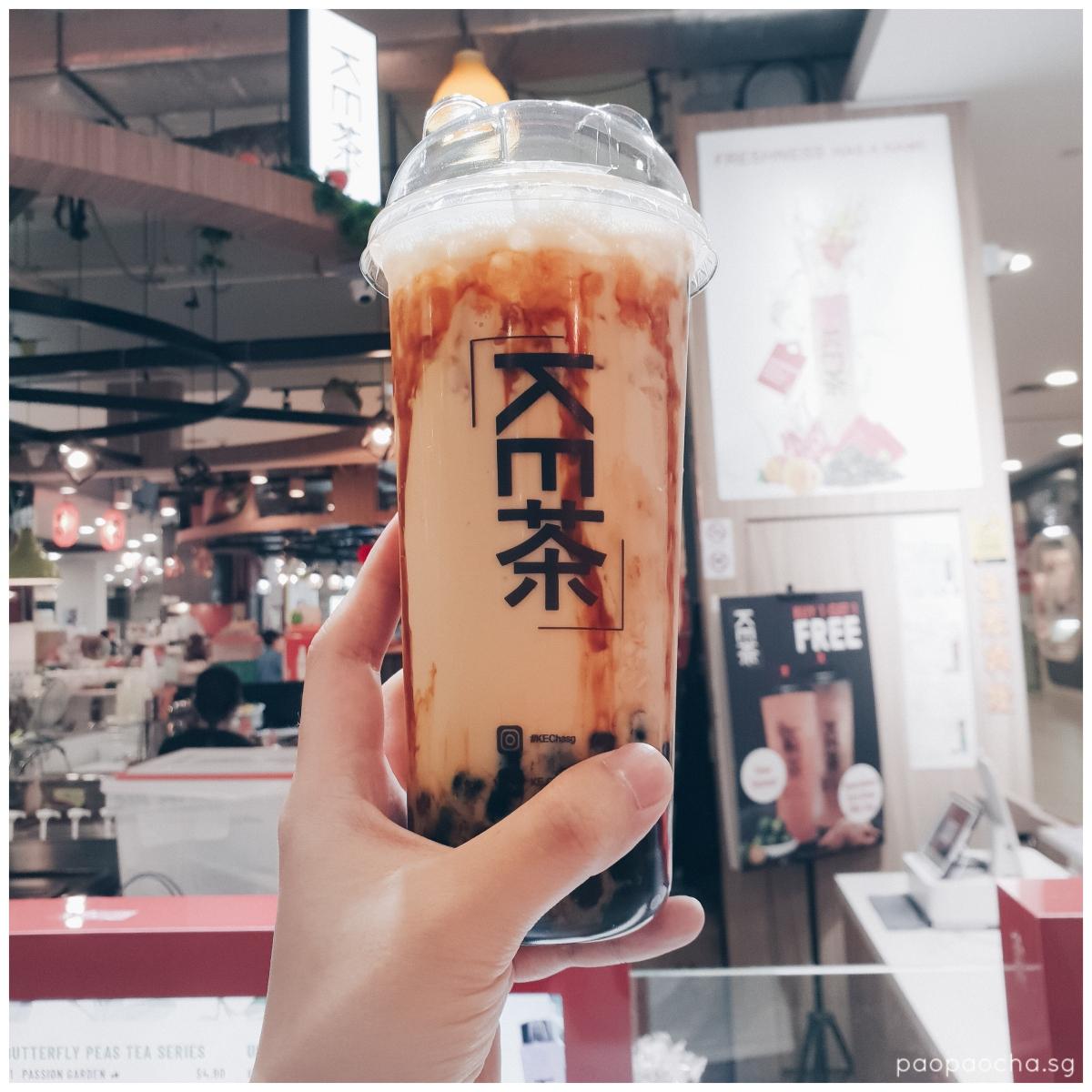 KeCha Premium Brown Sugar Earl Grey Milk Tea with Brown Sugar Pearls