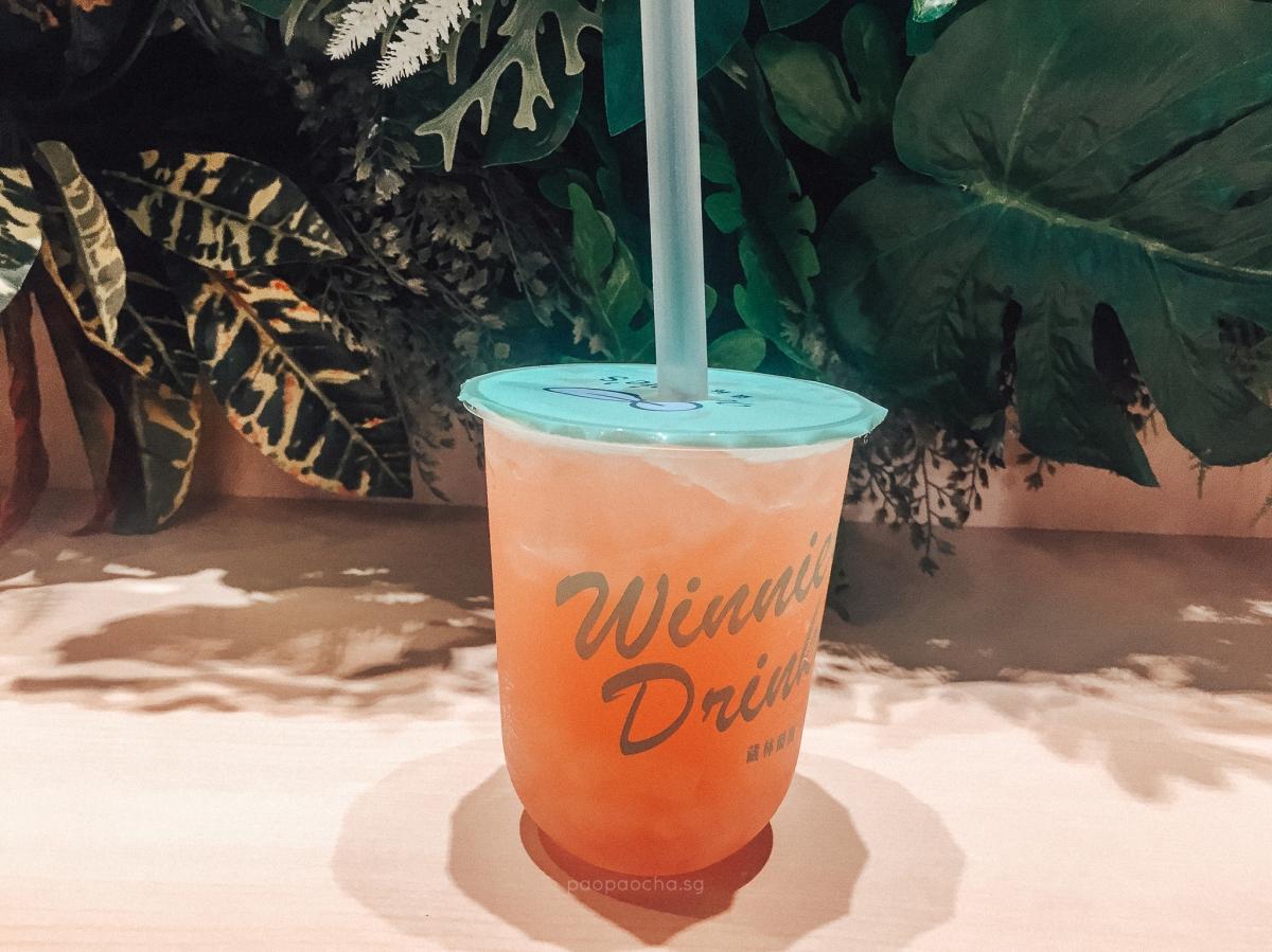 Winnie's Lychee Rose Nectar with Aloe Vera ($4.10)